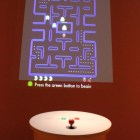 A live demo of Pac-Man was playable in the exhibit.