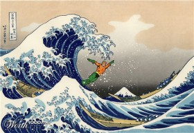 The Great Wave of Aquaman by Puzopia