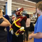 A Zero cosplayer awaits the announcement of the costume contest winners.