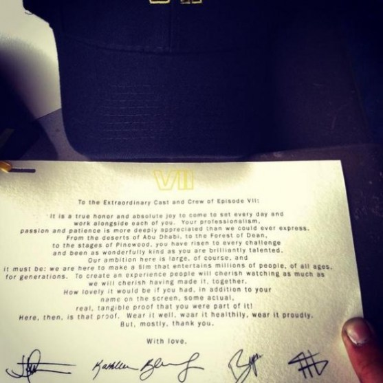 star-wars-epiode-vii-wraps-production-cast-and-crew-thank-you-note