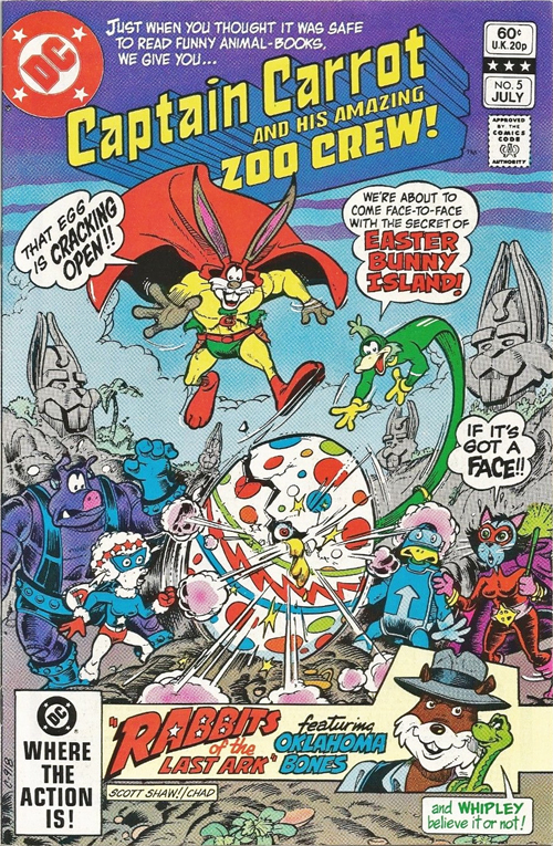 Captain Carrot and His Amazing Zoo Crew #5 – July, 1982