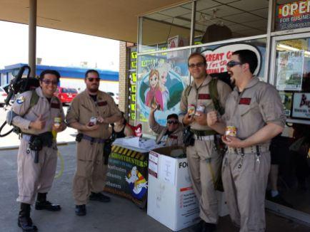 AZ Ghostbusters food drive on FCBD 2015
