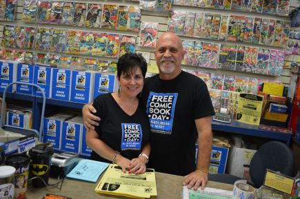 All About Books and Comics owners, Marsha and Alan Giroux