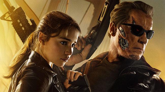Emilia Clarke and Arnold Schwarzenneger star in Terminator Genisys