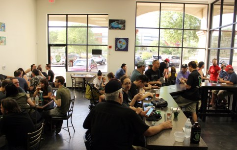 8-Bit Brewery's grand opening saw a large turnout.