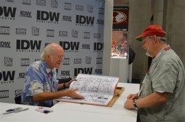 Don Rosa with a fan.
