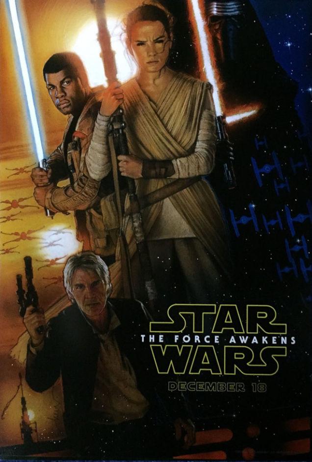 Star Wars: The Force Awakens poster by Drew Struzan