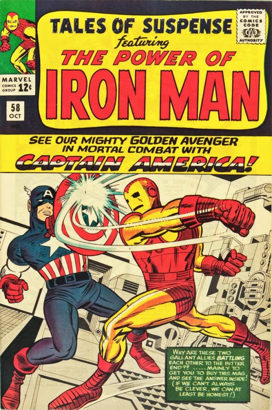 Captain America was featured in Marvel's Tales of Suspense from #58 to #100, when it became his own self-titled book.