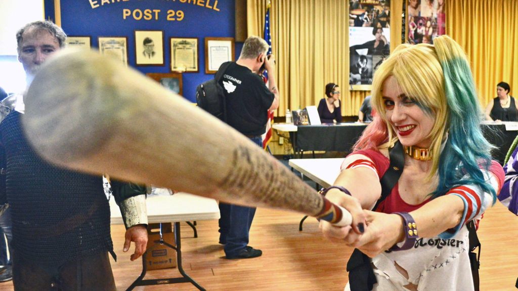 Glendale's American Legion Post #29 has never seen anything quite like Harley Quinn.