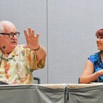 'The Jaws Log' author Carl Gottlieb, and Marine Biologist Amanda Mozilo at Phoenix Comicon 2016.