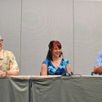 Carl Gottlieb, Amanda Mozilo, Miles Orchinik at Phoenix Comicon Jaws Panel