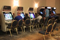 Free play arcade cabinets in the AZHP Gaming room. [photo by Christen Bejar]