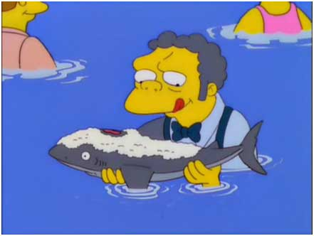 simpsons moe shark