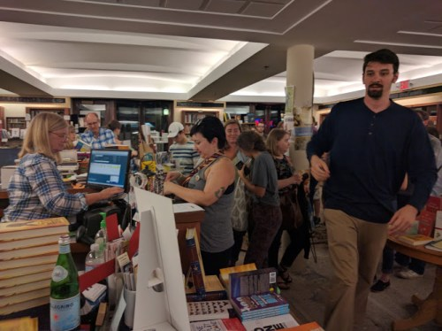 Cursed Child release party - SubText buying the book 1