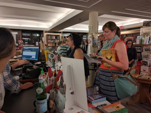 Cursed Child release party - SubText buying the book 3