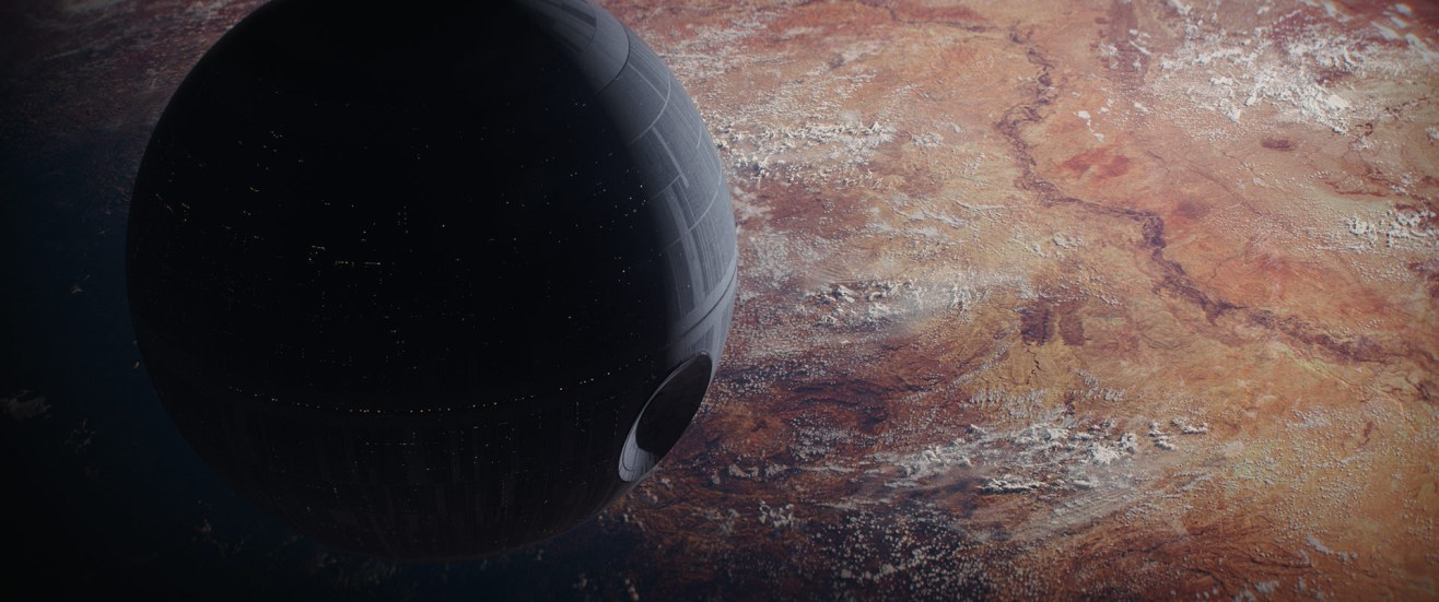 A sweeping vista in Rogue One: A Star Wars Story