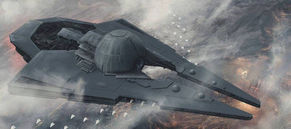 Star Destroyer with Death Star