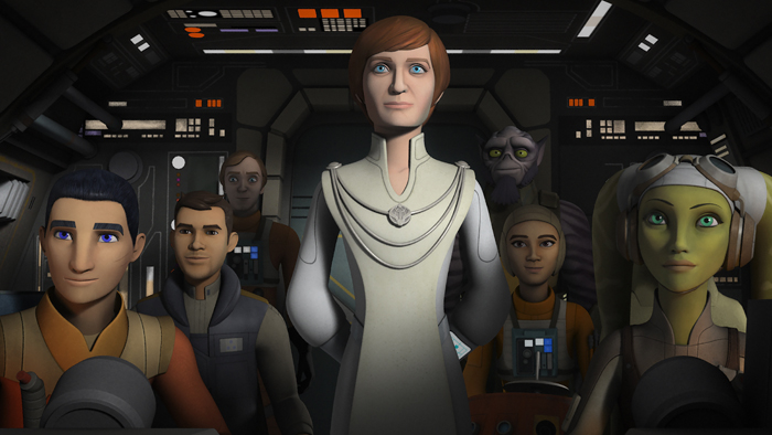 Genevieve O'Reilly reprises her role as Mon Mothma in Star Wars Rebels
