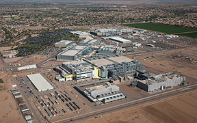 Intel formally announced Wednesday that the company will go ahead with plans to develop an advanced semiconductor plant in Chandler. The Fab 42 site will cost $7 billion and bring as many as 10,000 jobs to the state. (Photo courtesy Intel Corp.)
