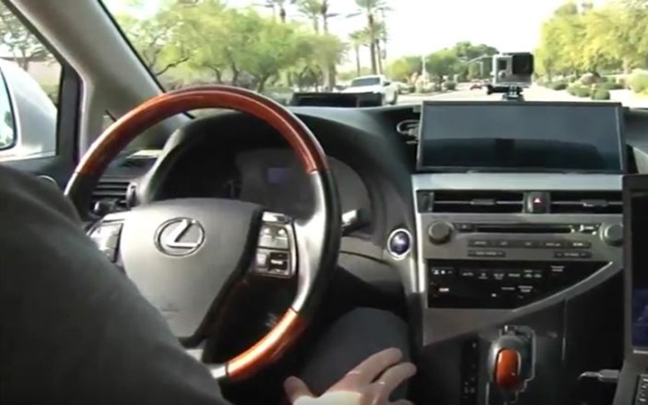 Several companies are testing driverless cars in Arizona, including Uber. For now, the cars still have a human sitting behind - but not holding - the controls. (Cronkite News photo)