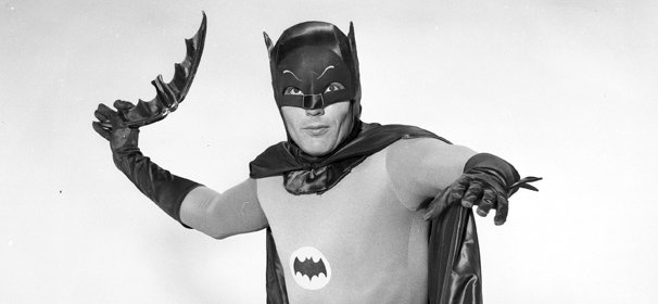 Adam West as Batman in a publicity photo