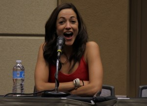Carolina Ravassa during her panel at Game On Expo.