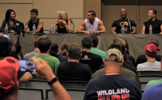 The entire motion capture cast from the first Mortal Kombat video games discussed the title during their panel.