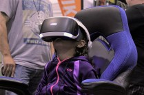 Virtual Reality games were also a big draw for attendees.