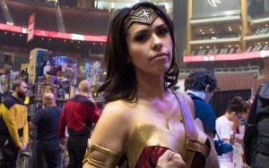 Lana Vom Lehn cosplays the most popular DC Comic woman superhero, Wonder Woman. (Photo by Melina Zuniga/Cronkite News)