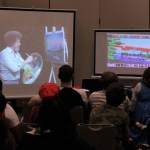 Let's Get Crazy: Having an audience member use Mario Paint alongside a Bob Ross episode turned out to be surprisingly entertaining.