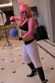 Dragon Ball related cosplay was a huge hit at the convention, as seen with this female Buu costume.