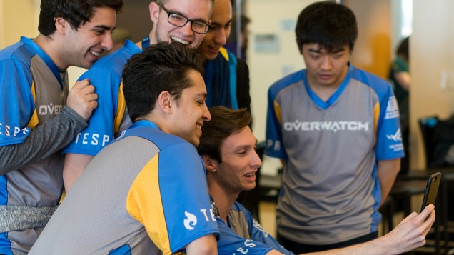 The UC Irvine team had high expectations for the Overwatch championship but they lost to UC Berkley in the final round. (Photo by Daria Kadovik/Cronkite News)