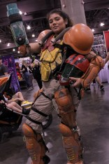 Samus Aran from Metroid looked fearless on the convention floor. Photo by Christen Bejar.