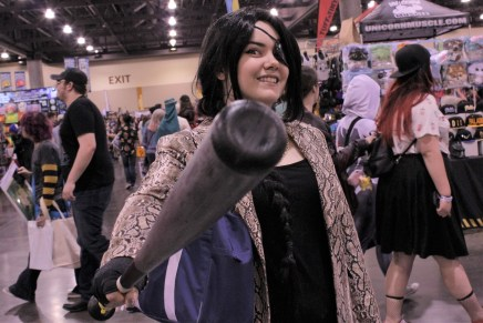 This Majima cosplayer from the Yakuza series was insanely delighted for a photo op. Photo by Christen Bejar.