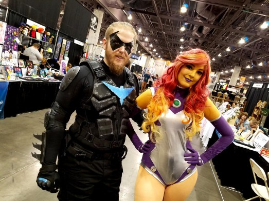 Nightwing and Starfire cosplayers at Phoenix Comic Fest, Saturday, May 26, 2018, at the Phoenix Convention Center.