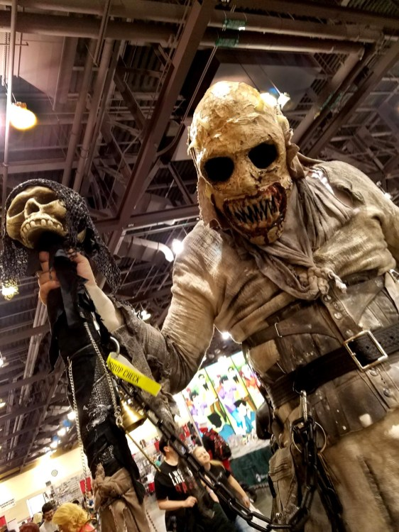 Scary stilt walker at Phoenix Comic Fest, Saturday, May 26, 2018, at the Phoenix Convention Center.