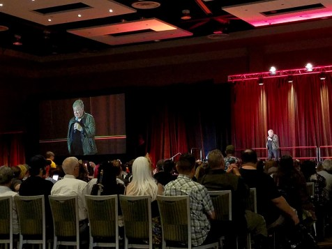 William Shatner speaks at his panel at Phoenix Comic Fest, Saturday, May 26, 2018, at the Phoenix Convention Center.