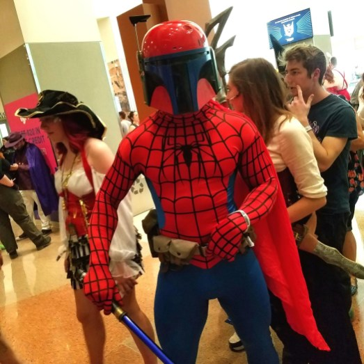 It's a Boba Fett-Spider-Man mashup at Phoenix Comic Fest, Saturday, May 26, 2018, at the Phoenix Convention Center.
