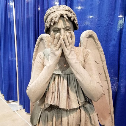 Don't blink! A 'Doctor Who' Weeping Angel cosplay at Phoenix Comic Fest, Saturday, May 26, 2018, at the Phoenix Convention Center.