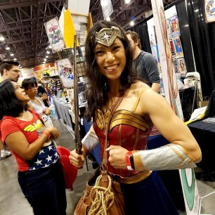 A Wonder-ful smile at Phoenix Comic Fest, Saturday, May 26, 2018, at the Phoenix Convention Center.