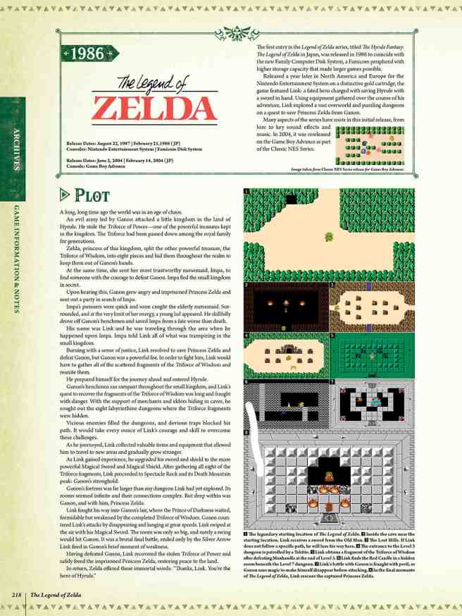 The Legend of Zelda Encyclopedia Preview Pages