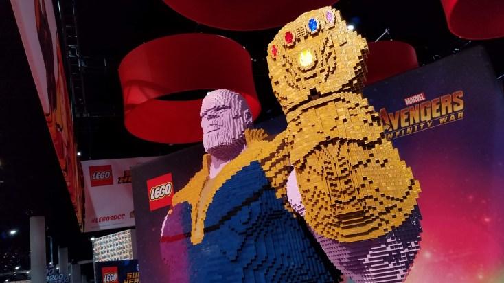 LEGO Thanos at San Diego Comic-Con 2018