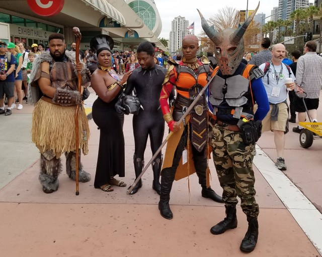 Yibambe! Citizens of Wakanda made an appearance at Friday's San Diego Comic-Con.