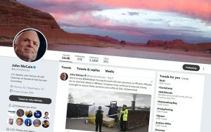 Arizona Sen. John McCain saw the biggest hit to his Twitter account, losing 210,000 followers in the social medium platform's purge of suspicious accounts last month, but it barely made a dent in his account, which still has 3.18 million followers. (Photo courtesy Twitter)