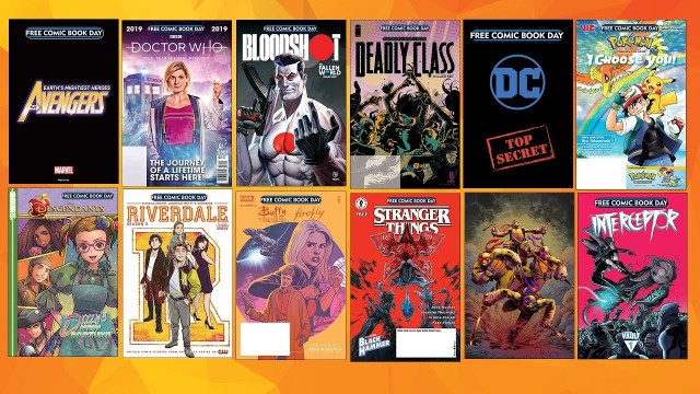 Free Comic Book Day 2019 Gold Sponsor comic book covers