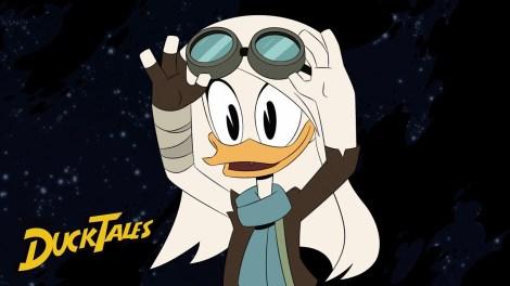 DuckTales Della Duck on the moon singing lullabye