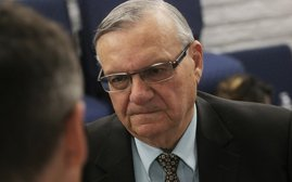 A 2016 file photo of former Maricopa County Sheriff Joe Arpaio, who is fighting to have his conviction for criminal contempt of court vacated after he was pardoned in the case by President Donald Trump. The Supreme Court declined to get involved Monday in the case, which will now be heard by the 9th U.S. Circuit Court of Appeals. (Photo by Bri Cossavella/Cronkite News)