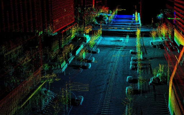 Quanergy's LIDAR system would use light sensors, when triggered, to map a three-dimensional rendering of the surroundings and send GPS coordinates to the nearest authorities. Spokeswoman Whitney Jencks said the sensors can distinguish between potential triggers like humans, animals and other objects. (Photo courtesy of Quanergy Systems, Inc.)