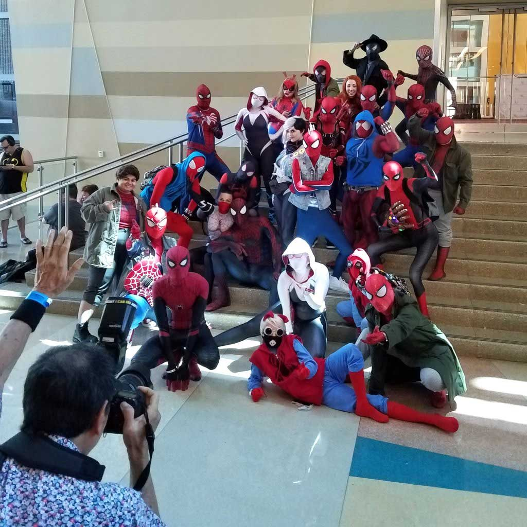 Spidey infestation at Toy Story Army men rest at Phoenix Fan Fusion 2019