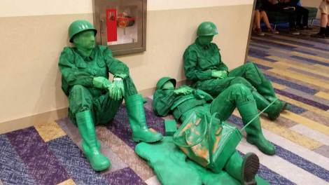 Toy Story Army men rest at Phoenix Fan Fusion 2019